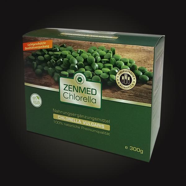 Verpackungs Design Chlorella der Firma Zenmed