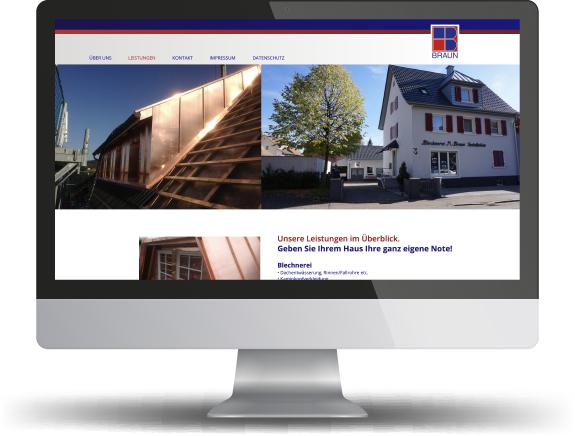 website firma braun blechnerei
