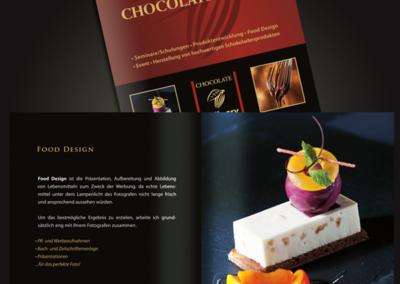 broschüre choclate culinary