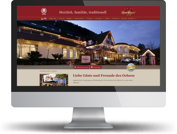 website hotel ochsen