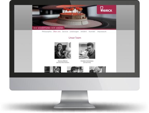 Website Wierick Zahntechnik
