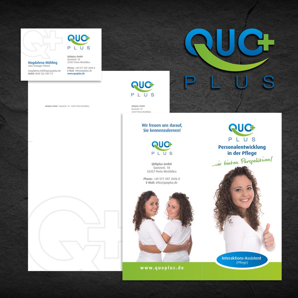 Corporate Design Erstellung für Quo Plus