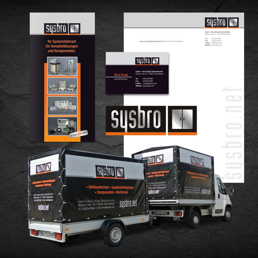 Corporate Design Firma Sysbro Rheinfelden/ Herten