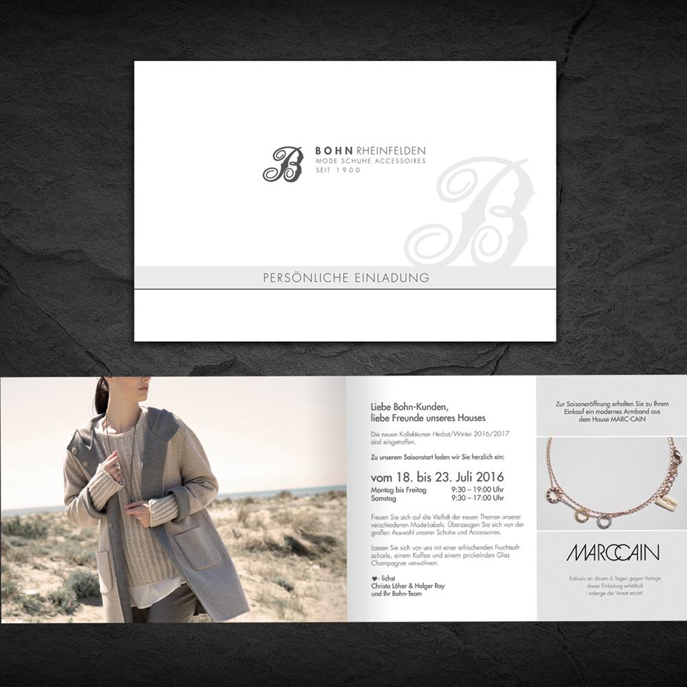 Gestaltung und Druck Einladungskarten  Atelier Charisma