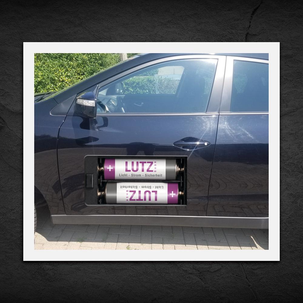 kreative witzige Fahrzeugbeschriftung